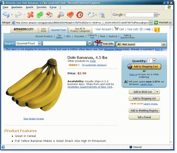 Bananen - bei Amazon