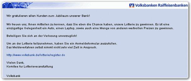 Volksbank Phishing